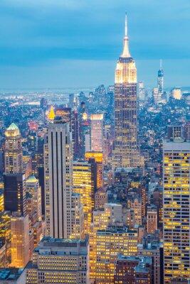 Quadro New York City skyline anoitecer EUA