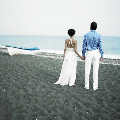 Quadro Newlyweds no mar