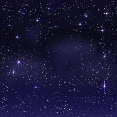 Quadro Noite céu estrelado