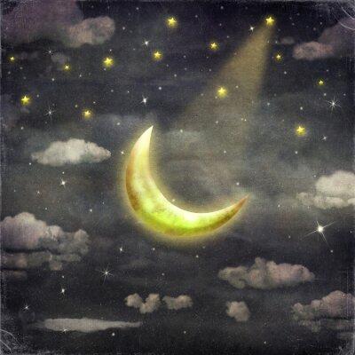 Quadro Noite, estrelas, lua