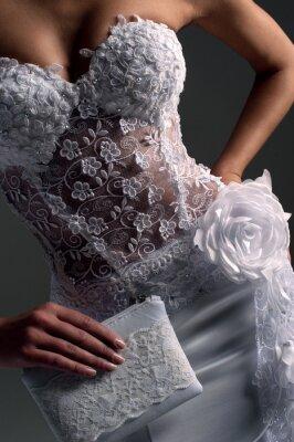 Quadro noiva de luxo em forma de ajuste vestido, catálogo de fotos