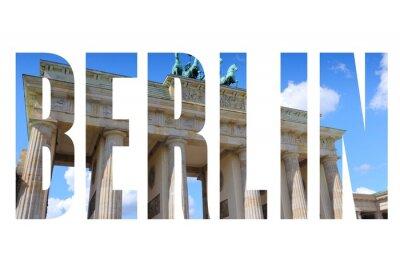 Quadro Nome da cidade de Berlim