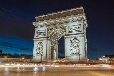Quadro O Arco do Triunfo à noite.