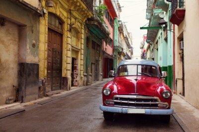 Quadro O carro velho clássico nas ruas de Havana, Cuba