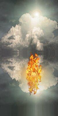 Quadro O fogo ea água