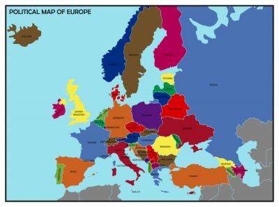 Quadro O mapa político da Europa