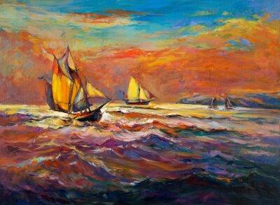 Quadro Oceano e navio