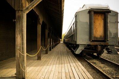 Quadro Old train on station