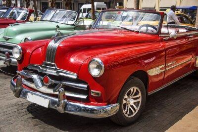 Quadro Oldtimer no centro de Havana
