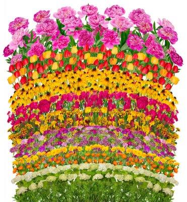Quadro Ondas florais fantásticas cama isolados