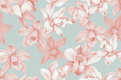 Quadro Orchids seamless pattern. Kitchen panel concept