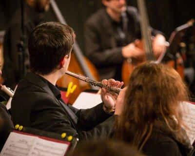 Quadro Orquestra sinfônica executando.