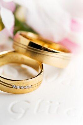 Quadro Os anéis de casamento, anéis de casamento