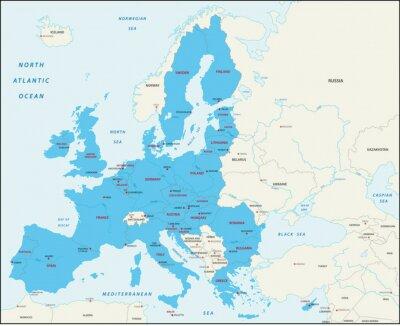 Quadro Os Estados membros da União Europeia mapa