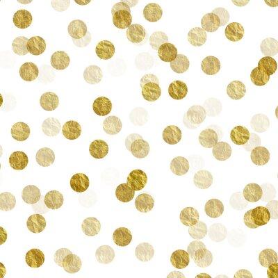 Quadro Ouro, pontos, foil, folha, metálico, fundo, teste padrão, textura