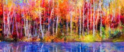 Quadro Outono, fundo da natureza da estação de queda.
