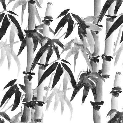 Quadro Padrão de bambu