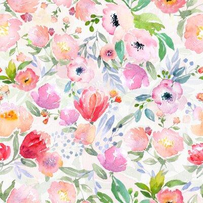 Quadro Padrão floral da aguarela