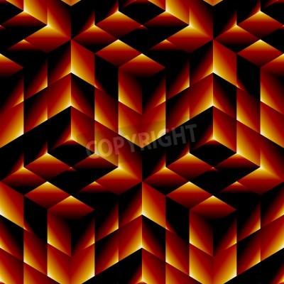 Quadro Padrão geométrico sem emenda