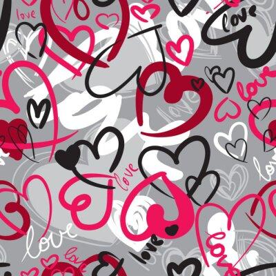 Quadro Padrão sem emenda do Valentim bonito com corações