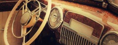 Quadro Painel do carro vintage (fragmento)