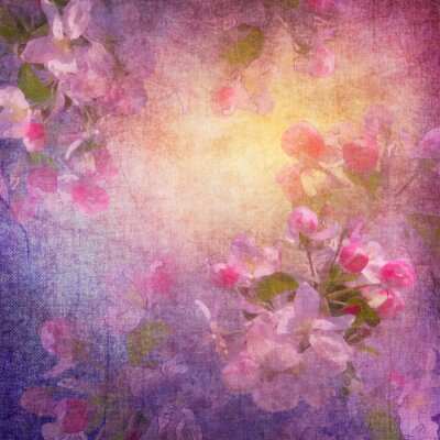 Quadro Painting style spring floral art