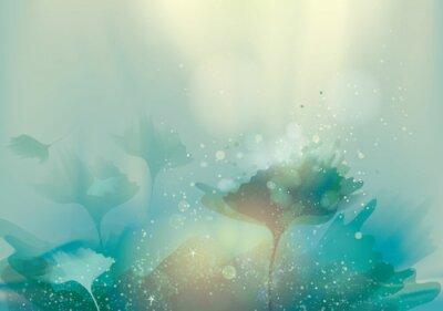 Quadro Paisagem abstrata bonita / Magic fundo floral