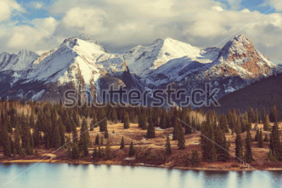 Quadro Paisagem da montanha em montanhas rochosas de Colorado, Colorado, Estados Unidos.