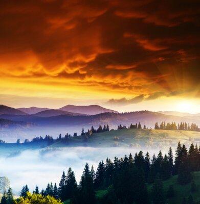 Quadro Paisagem das montanhas