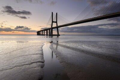 Quadro Paisagem Urbana de Lisboa ea SUA ponte.