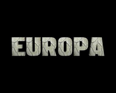 Quadro palavra 3d Europa