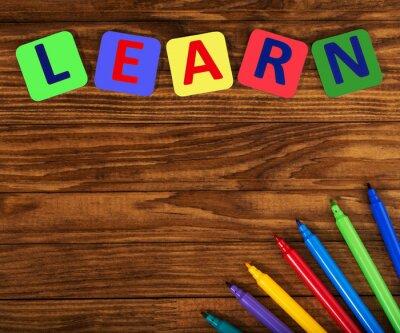 Quadro palavra aprender