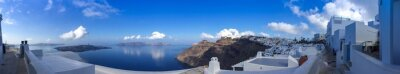 Quadro Panorama à Fira em Santorin, Cyclades en Grèce