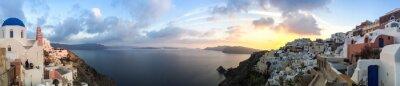 Quadro Panorama à Oia em Santorin, les Cyclades en Grèce
