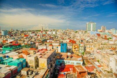 Quadro Panorama da cidade de Havana Vedado District