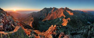 Quadro Panorama da montanha do outono paisagem