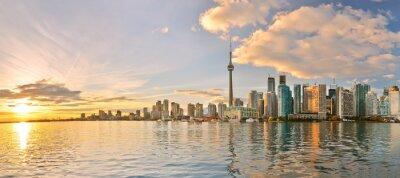 Quadro Panorama da skyline de Toronto no por do sol em Ontário, Canadá.