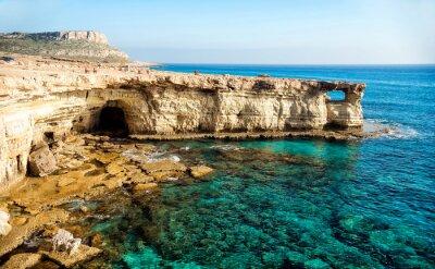 Quadro Panorama de cavernas do mar