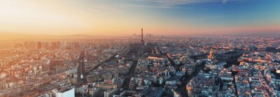 Quadro Panorama de Paris no por do sol