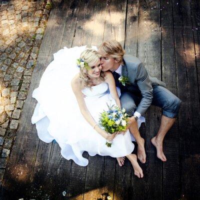Quadro Pares bonitos do casamento