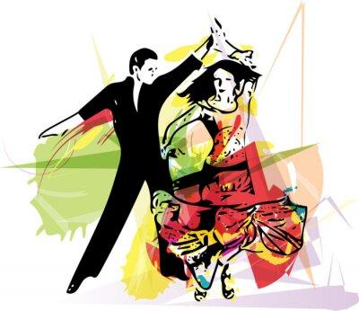 Quadro Pares da dança Latino