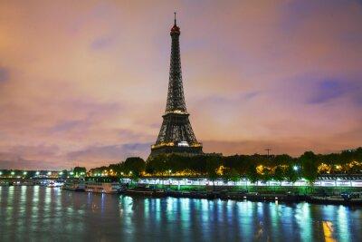Quadro Paris arquitectura da cidade com torre Eiffel