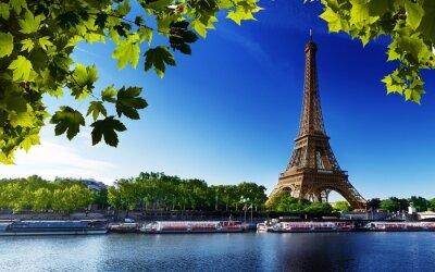 Quadro Paris eiffel france rio praia árvores