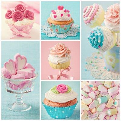 Quadro Pastel colorido doces