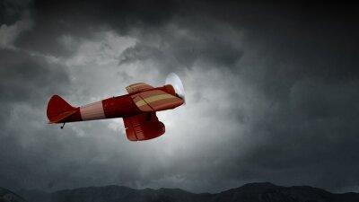 Quadro Perigo de acidente de avião. Meios mistos