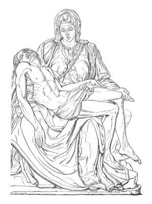 Quadro Pieta - Michel-Ange