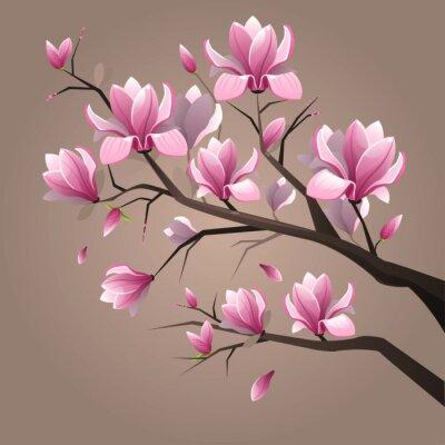 Quadro Pink magnolia flowers