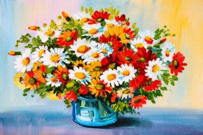 Quadro Pintura a óleo - ainda vida, um buquê de flores