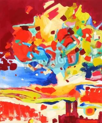 Quadro pintura a óleo ilustração vetorial. Eu, artista, detém os direitos autorais