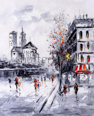 Quadro Pintura a óleo - Street View de Paris